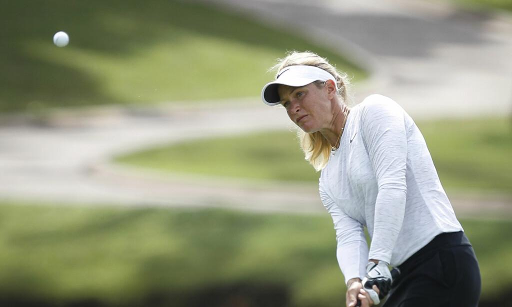 NESTEN TIL TOPPS: Suzann Pettersen storspilte på den fjerde og siste runden i LPGA-turneringen i Malaysia. Hun avsluttet med en 66-runde og endte på 2.-plass. Foto: AP Photo/Joshua Paul/NTB Scanpix