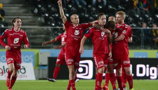 PERLESCORINGER: Fredrik Haugen satte inn 2-1 og sikret medalje til Brann. Foto: Tor Erik Schrøder / NTB scanpix