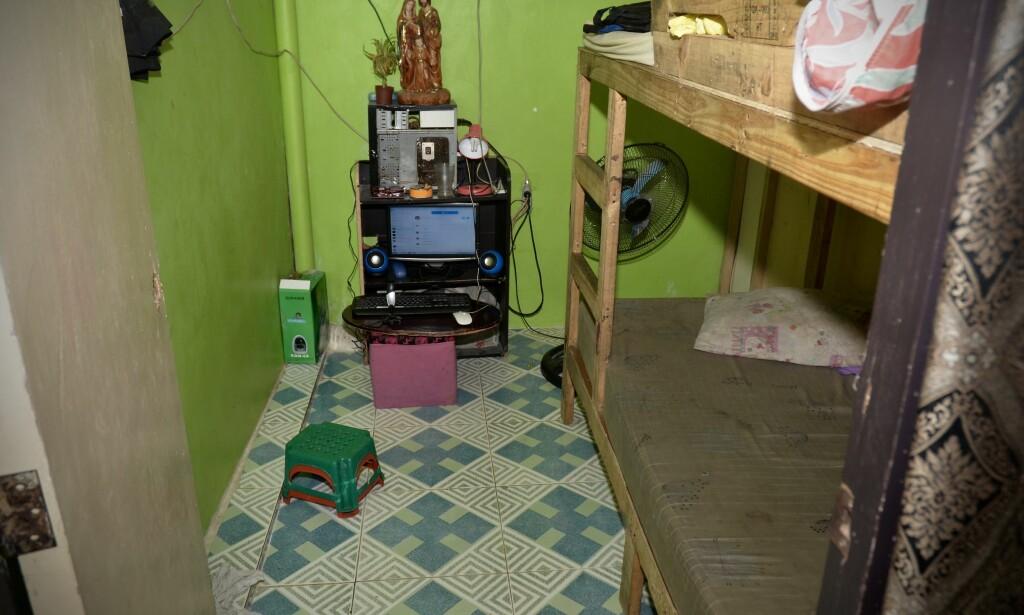 OVERGREPSROM: Politiet har pekt ut dette rommet som åstedet for overgrepene på Filippinene. Foto: Kripos <div><br></div>