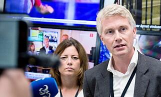TV 2-LEDELSEN: Kommunikasjonsdirektør Sarah Willand og sjefredaktør Olav T. Sandnes. Foto: Eivind Senneset / Dagbladet