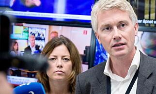 TV 2-LEDELSEN: Kommunikasjonsdirektør Sarah Willand og administrerende direktør Olav T. Sandnes. Foto: Eivind Senneset / Dagbladet