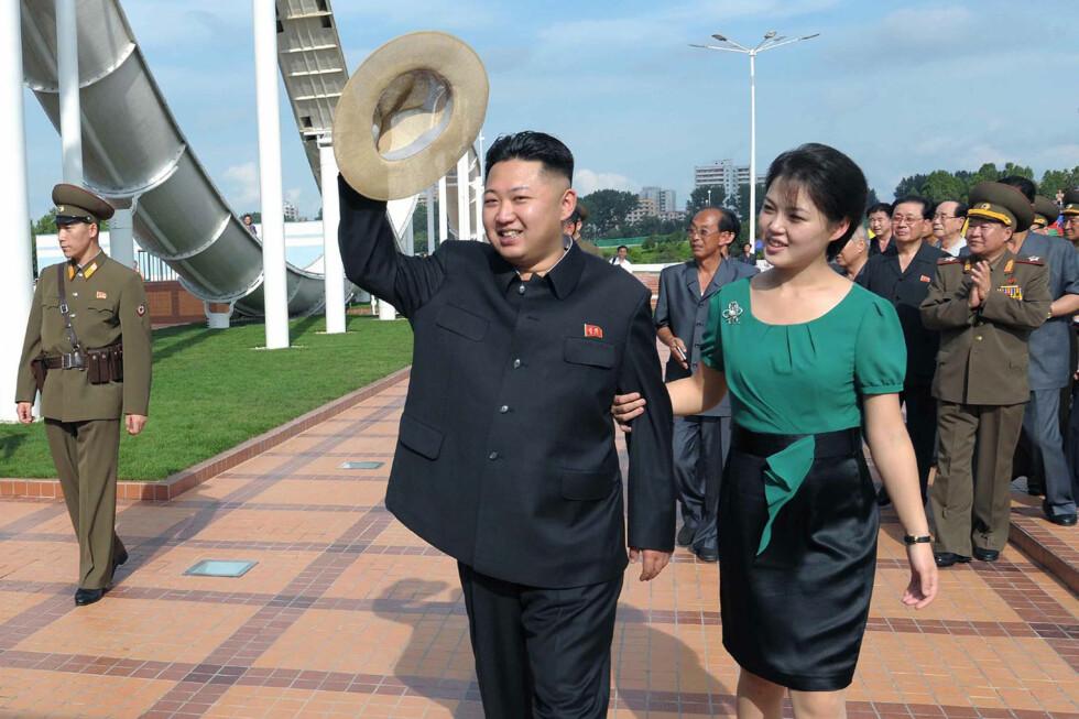 EKTEPAR: Nord-Koreas leder, Kim Jong-un, sammen med kona Ri Sol-ju. Foto: REUTERS / Scanpix / KCNA
