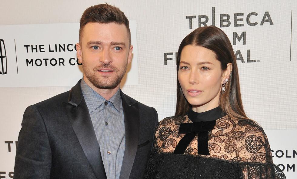 TAR TIL MOTMÆLE: Justin Timberlake har fått gjennomgå i sosiale medier for forrige ukes valgblemme. Nå erter også kona ham. Foto: NTB Scanpix