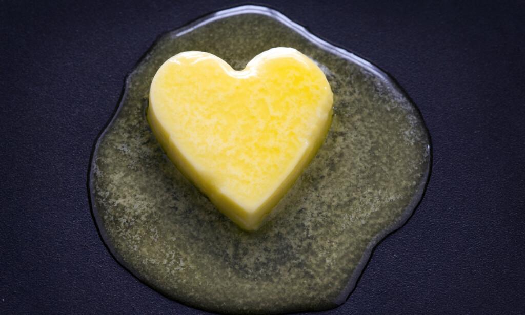 METTET FETT: Smør er blant matvarene som har høyt innhold av mettet fett. Foto: NTB Scanpix