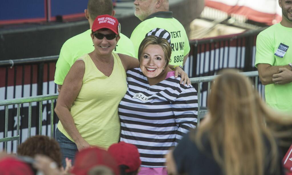 HILLARY-HÅN: Donald Trump mener Hillary Clinton er en skurk. Det er mange av velgerne hans enig i. Foto: Øistein Norum Monsen / Dagbladet