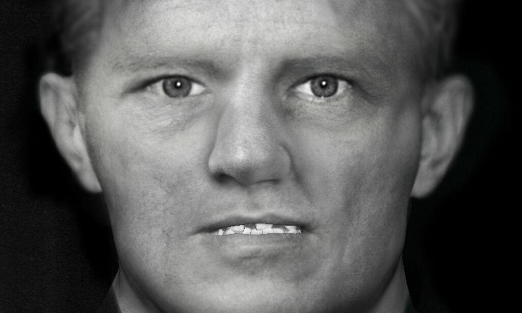 image: For to år siden ble et mannlig skjelett funnet i ei grøft i Strömstad. Ei kvinne i Liverpool har rekonstruert dette ansiktet. Kan det løse gåten?