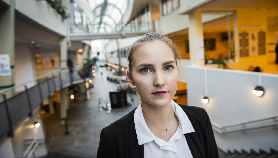 <strong>STUDENTLEDER:</strong> Sara Kristine Nilsen er studentleder i UIT Narvik. Hun sier skolens studenter er sterkt preget etter at en student ble drept tirsdag kveld og en annen hardt skadd. Foto: Lars Eivind Bones / Dagbladet