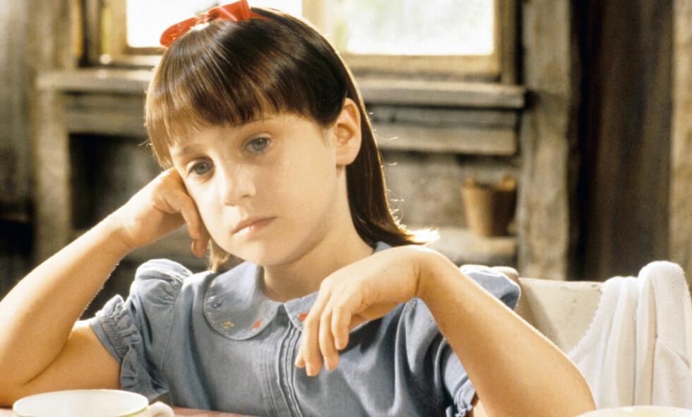 20 ÅR SIDEN: Mara Wilson sjarmerte hele verden i rollen som den smarte jenta Matilda. I år er det 20 år siden filmen ble gitt ut. Foto: NTB scanpix