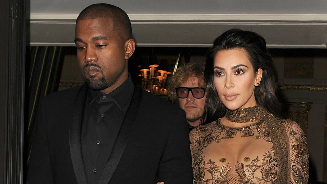STØTTER KONA: Da Kanye West fikk vite om Kims dramatiske hendelse i Paris i oktober, løp han av scenen under en konsert i New York.  Foto: wenn.com