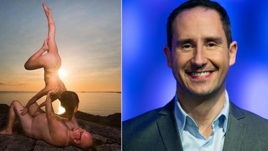 FOR STERK KOST: Rønnebergs bilde fra naken-yoga i PAris ble for sterk kost for Instagram. Da brukte han Bjørn Rosslands bilde. Foto: Bjørn Rossland / NTB Scanpix