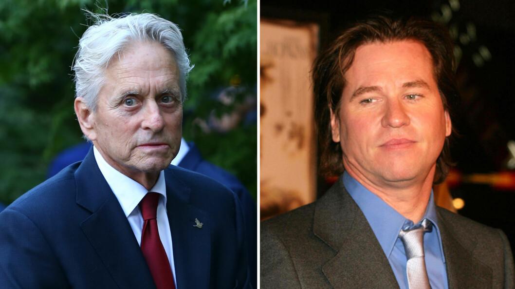 AVSLØRT: Michael Douglas fortalte i et intervju at skuespiller Val Kilmer har kreft i halsen - til tross for at han selv avkreftet det i fjor.  Foto: NTB scanpix