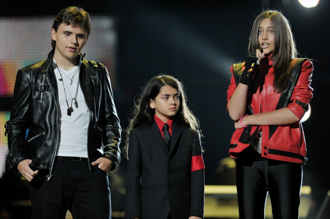 KJENDISBARN: Michael Jackson etterlot seg de tre barna, Prince Michael, Paris og Prince Michael II.  Foto: Epa