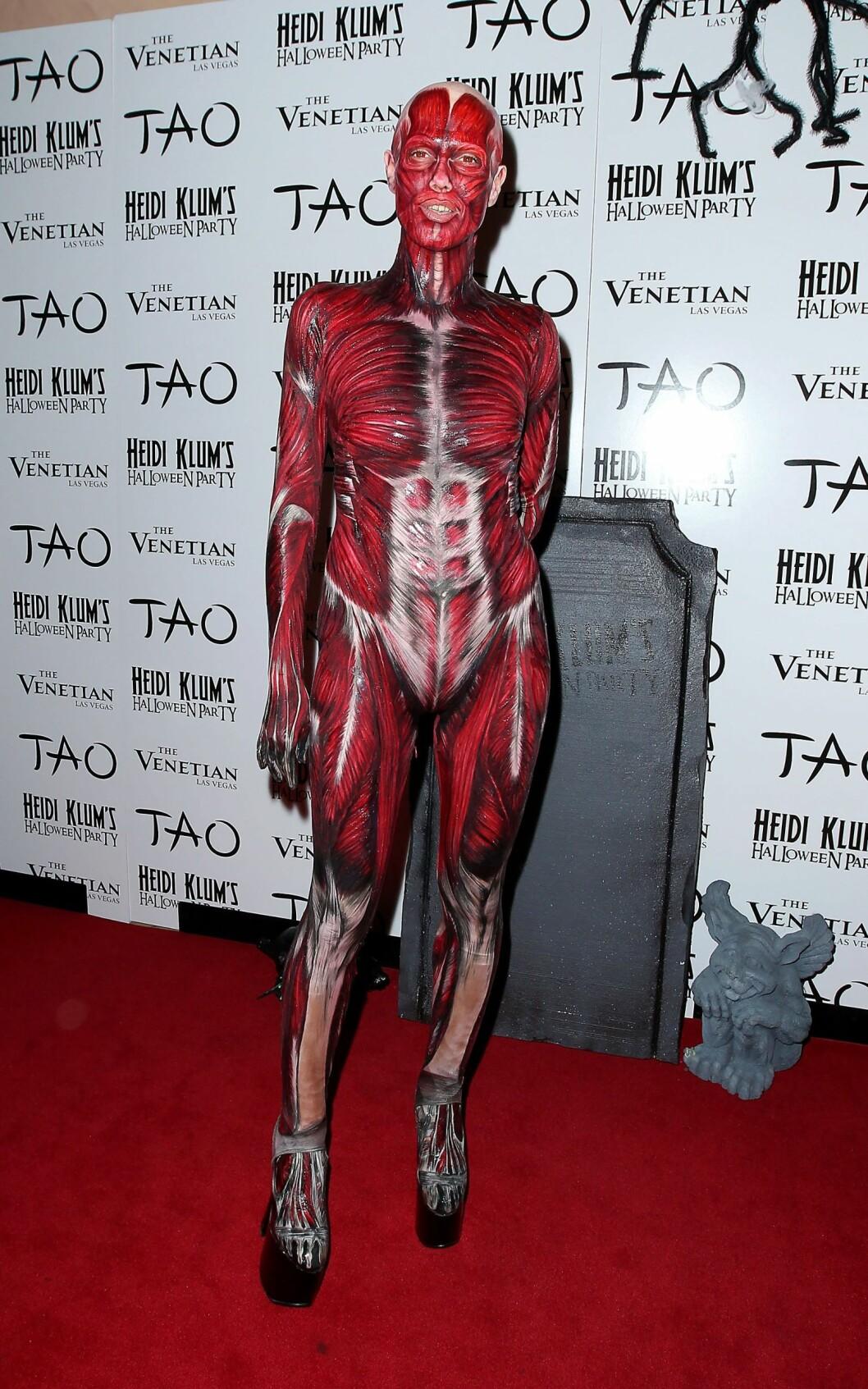 TAR DEN UT: Heidi Klum har Halloween-fest hvert år, og er alltid en av de som drar den aller lengst. Her i Las Vegas i 2011.  Mandatory Credit: Judy Eddy/WENN.com Foto: wenn.com