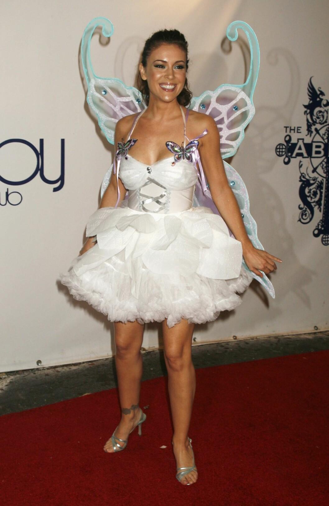 Alyssa Milano på Klums Halloween-fest i 2006.  Foto: REUTERS