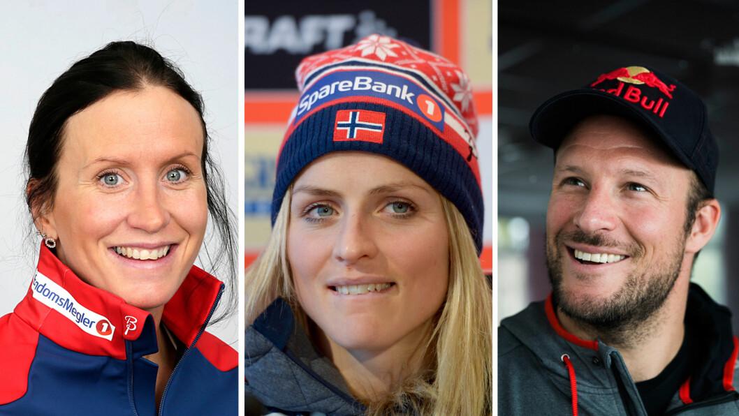 TRONER PÅ TOPPEN: Alpinist Aksel Lund Svindal er den norske idrettsutøveren det norske folk aller mest ønsker suksess. Den skadede idrettsstjernen slår blant andre Marit Bjørgen og Therese Johaug i kåringen.  Foto: NTB Scanpix