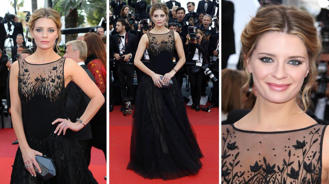 FRESH OG OPPLAGT: Mischa Bartons helse og utseende har vært preget av et stressende og utsvevende liv, men på «Loving»-premieren i Cannes mandag strålte hun mer enn på lenge. Foto: NTB Scanpix