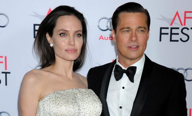 GIFTET SEG: Angelina Jolie og Brad Pitt giftet seg for to år siden. Nå skal de skilles. Foto: SCANPIX