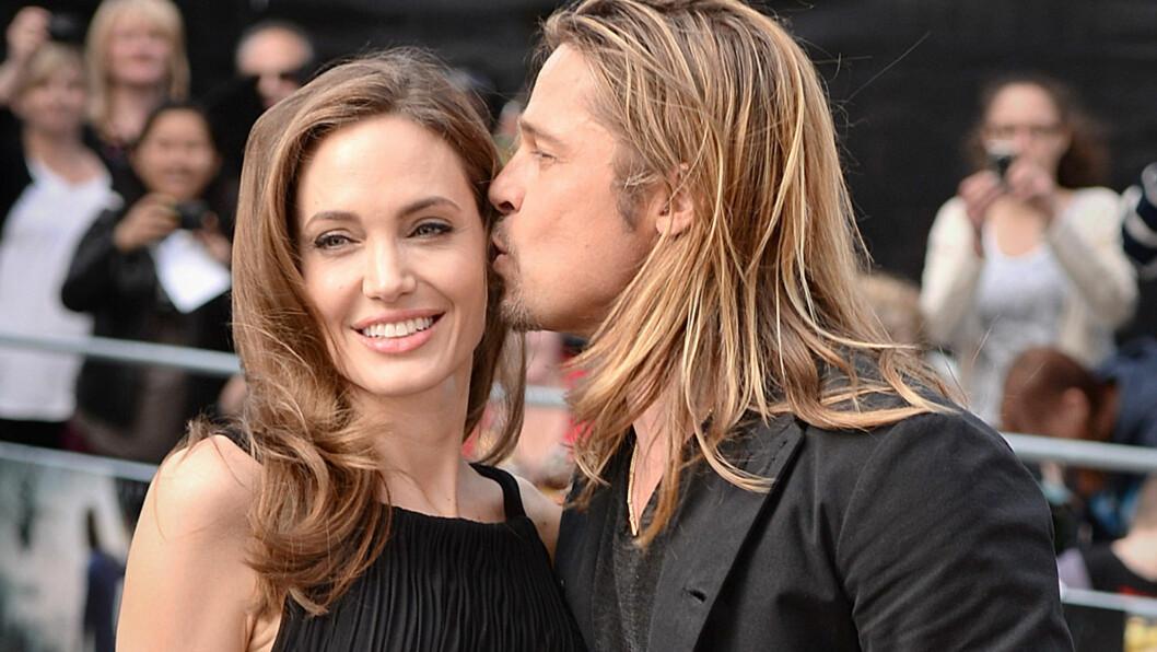 NÅ ER DET SLUTT: Bildet er tatt fra lykkeligere tider da de stilte sammen på premieren av World War Z i London for tre år siden. Foto: Pa Photos