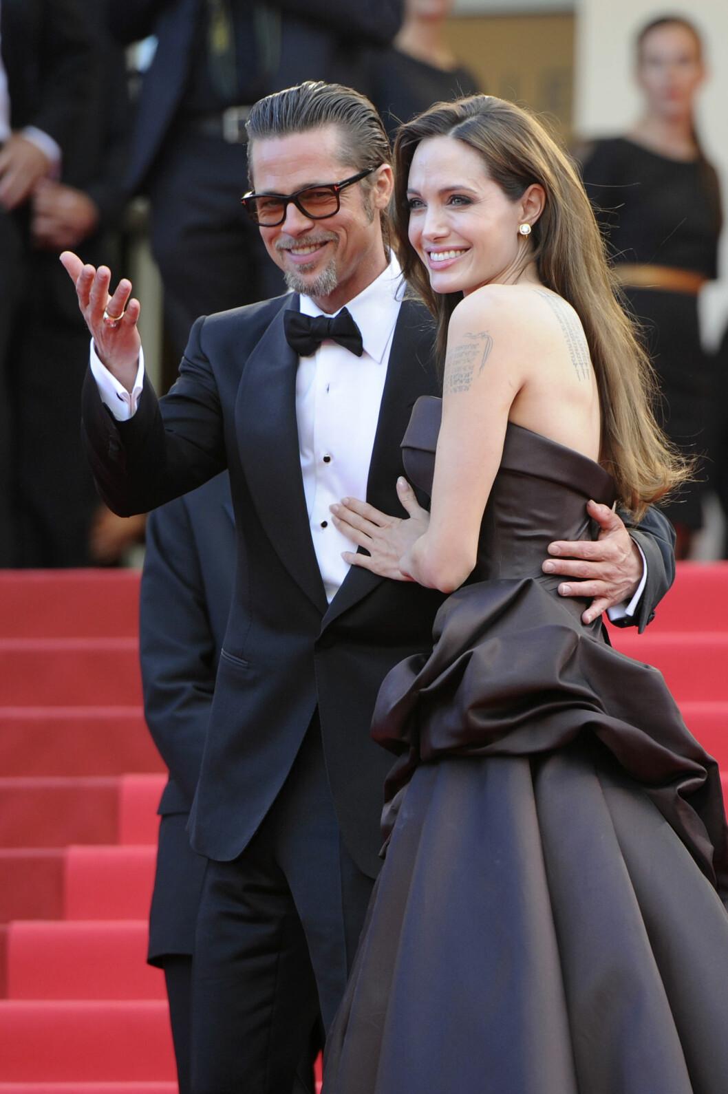 SKILLES: Brad Pitt og Angelina Jolie går fra hverandre etter 12 år. Foto: Afp