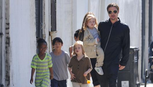- Brad Pitt gråt da han fikk se barna igjen