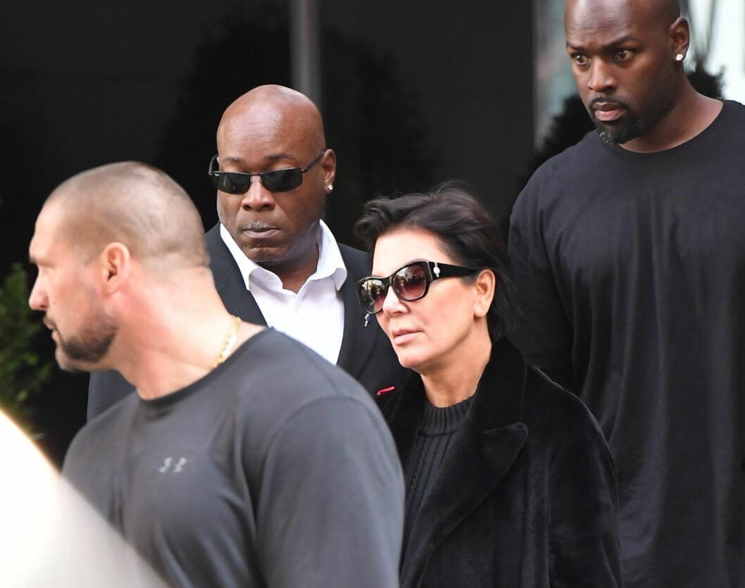 ØKER SIKEKRHETEN: Ikke bare Kim øker sikkherheten. Kris vil også øke sikkherheten til resten av Kardashian-familien. Foto: Afp