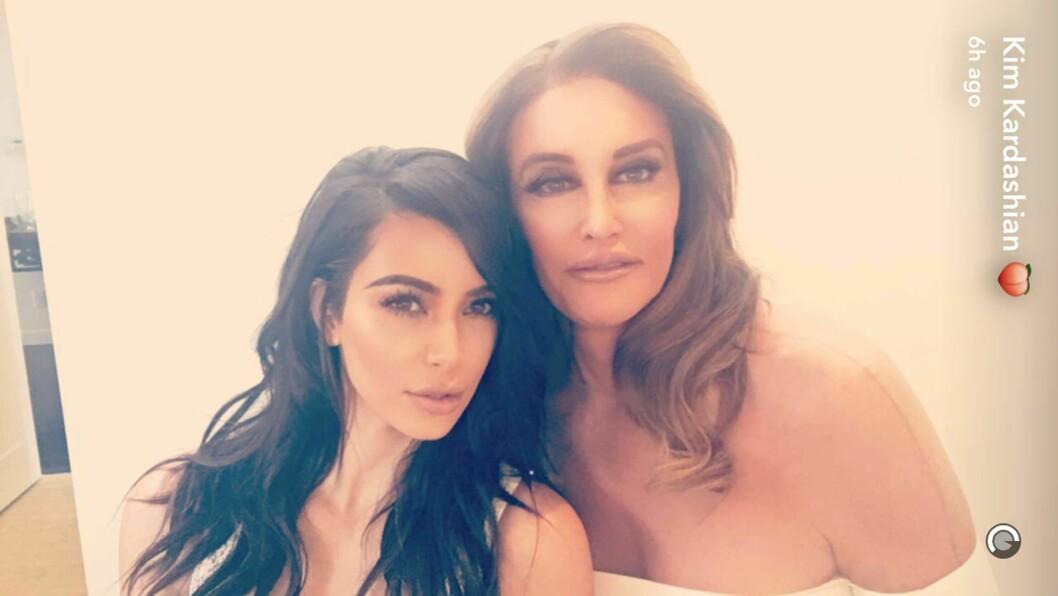 KIM OG CAITLYN: Caitlyn Jenner er takknemlig for at alt gikk så bra som det gikk med Kim under ranet i Paris.   Foto: Xposure