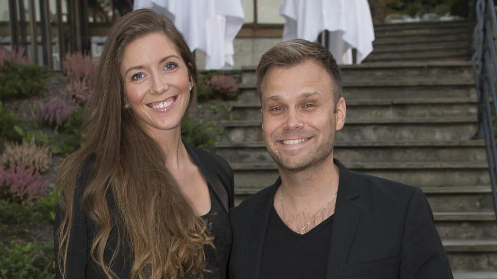 FORELSKET: Christian Ingebrigtsen kom i september på Wallmans gallapremiere med kjæresten Martine Dønheim. Foto: Tore Skaar/Se og Hør