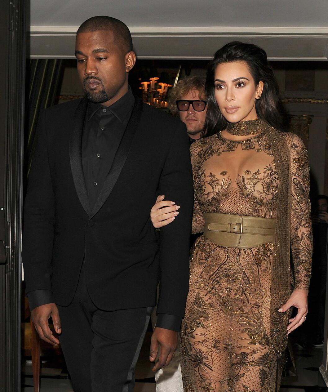 FIKK SKREKKBESKJEDEN: Kims ektemann Kanye West skal ha løpt av scenen under en konsert i New York da han fikk vite om konas dramatiske hendelse.  Foto: wenn.com