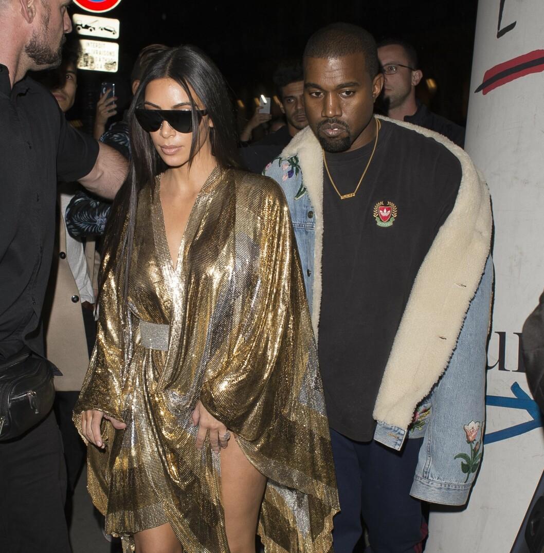 ENDELIG SAMMEN IGJEN: Kanye befant seg i USA mens overfallet og ranet av kona fant sted i Paris. Han skal ha vært svært bekymret. Dette bildet er tatt i en annen anledning. Foto: Xposure