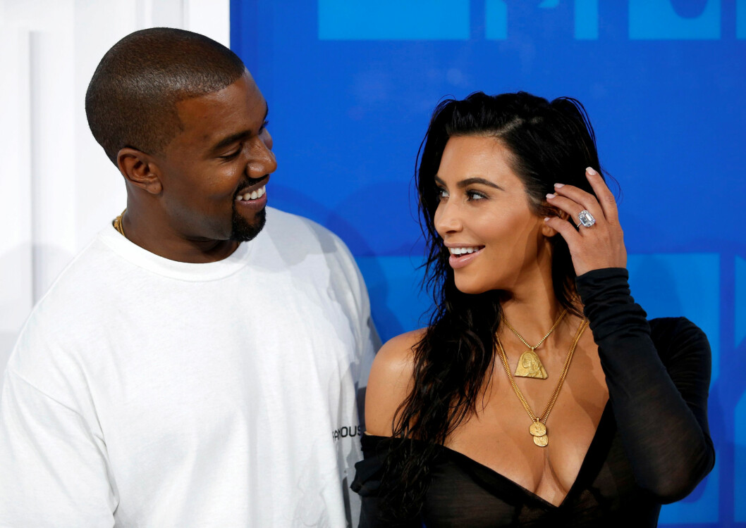 GIFT: Kanye West og Kim Kardashian på MTV Video Music Awards i 2016. Foto: Reuters