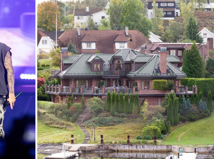 Enorm Justin bieber: Her bor Bieber i Oslo: Strandvilla til 66 millioner TY-33