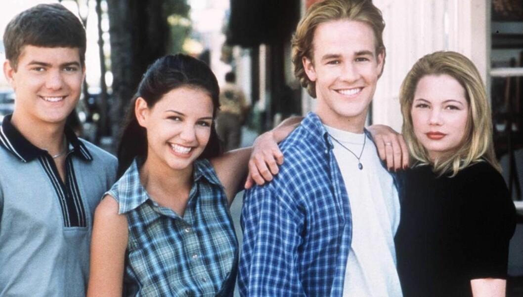 <strong>GAMLE VENNER:</strong> Katie har tilbrakt stadig mer tid sammen med Joshua Jackson (til venstre), som hun spilte sammen med i «Dawson's Creek» på 1990-tallet.