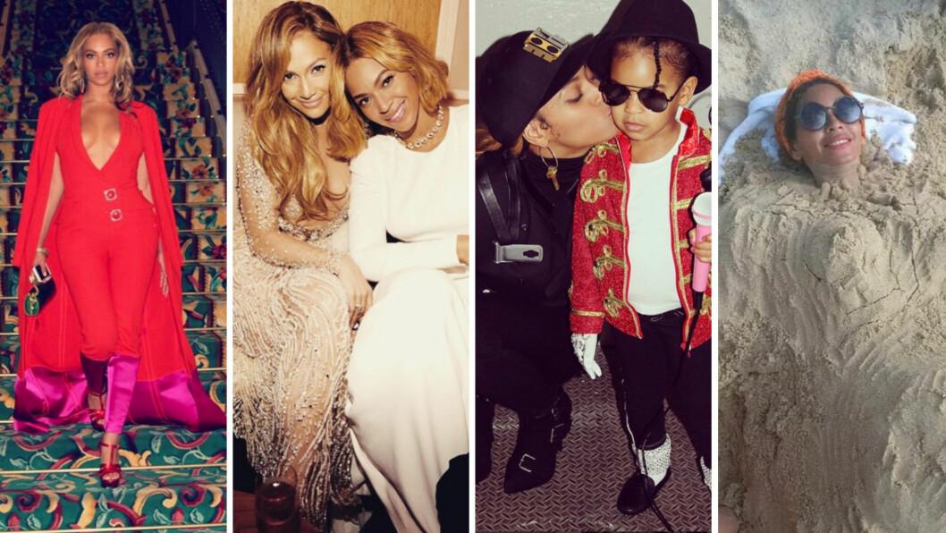 FYLLER 35 ÅR: Den amerikanske popstjernen Beyoncé Knowles har 35-årsdag 4. september. I løpet av de siste årene har hun delt mange blinkskudd med fansen sin på Instagram - vi har plukket ut noen av de beste for å feire 35-åringen! Foto: Skjermdump fra Instagram
