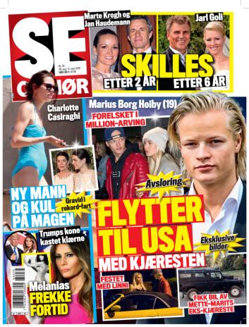 I SALG NÅ: I dagens utgave av Se og Hør kan du lese mer om bruddet mellom Marte Krogh og Jan Haudemann-Andersen Foto: Se og Hør