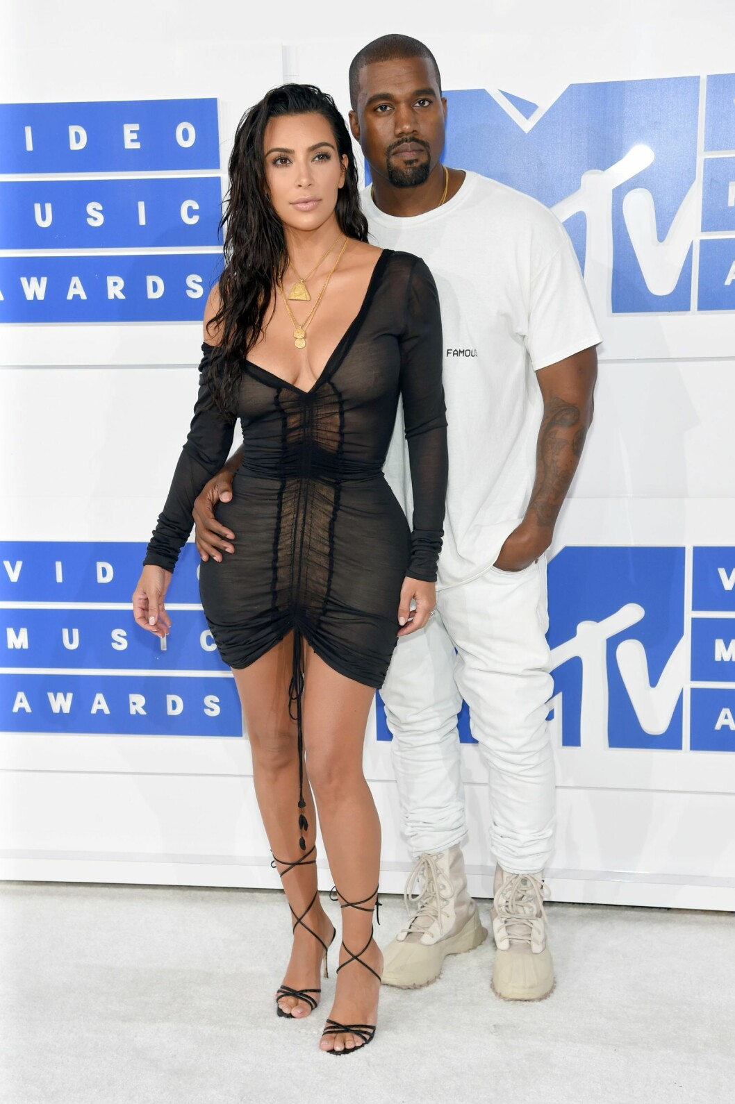 Superparet Kanye West and Kim Kardashian. Foto: Afp