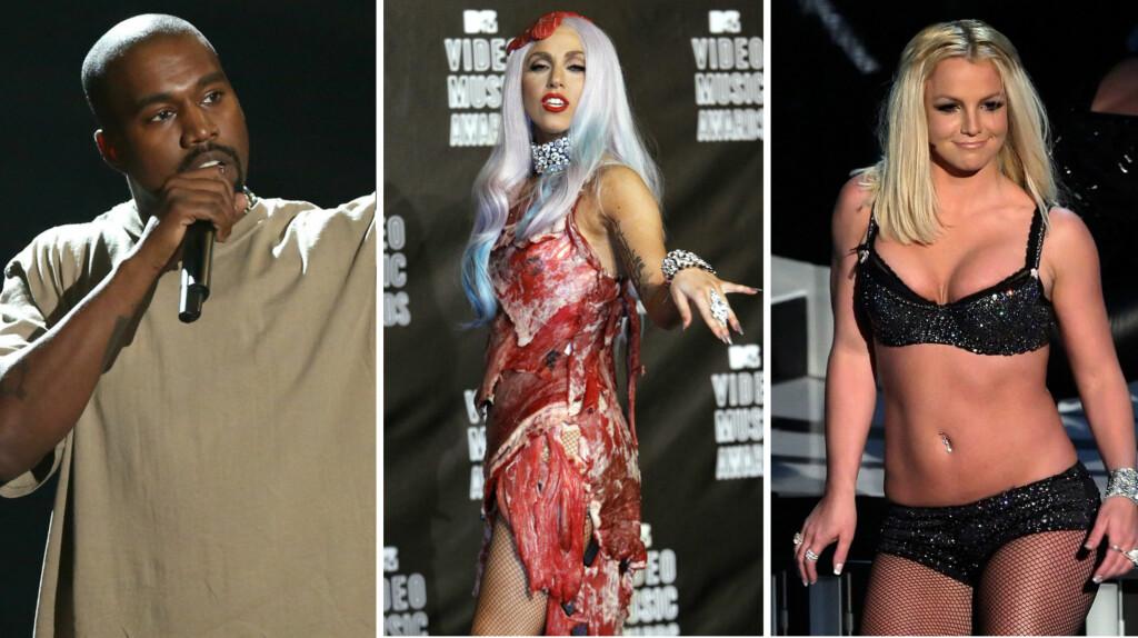 FREKT: MTV Video Music Awards har gjennom årene bydd på mange spennende og sjokkerende øyeblikk.  Foto: NTB scanpix