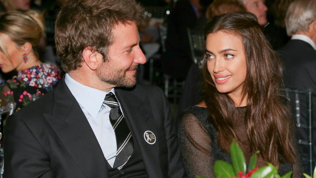 <strong>FORELSKET:</strong> I snart halvannet år har Irina Shayk og Bradley Cooper vært kjærester. Her er de sammen på en kjendismiddag i november i fjor.   Foto: SipaUSA