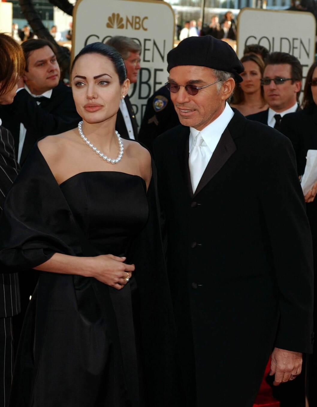 EKSEN: Billy Bob Thornton var gift med Angelina Jolie fra 2000 til 2003. Her er de avbildet sammen på Golden Globe i 2002.  Foto: AFP