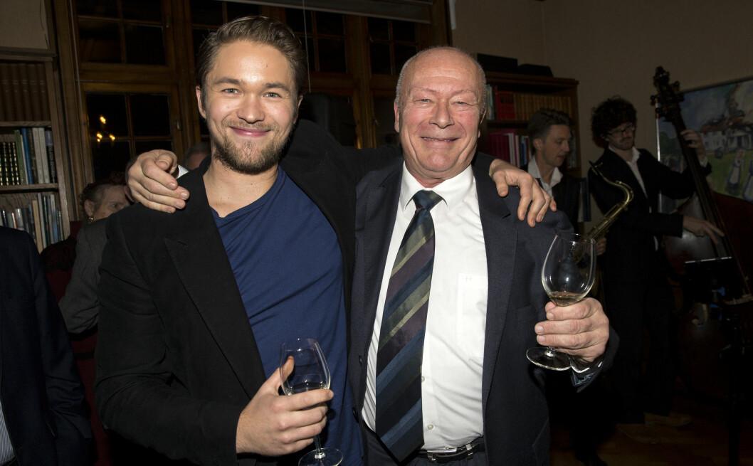STOLT PAPPA: Nils Ole Oftebro har flere ganger uttalt at han er svært stolt av sin talentfulle skuespillersønn, Jakob Oftebro.  Foto: Andreas Fadum