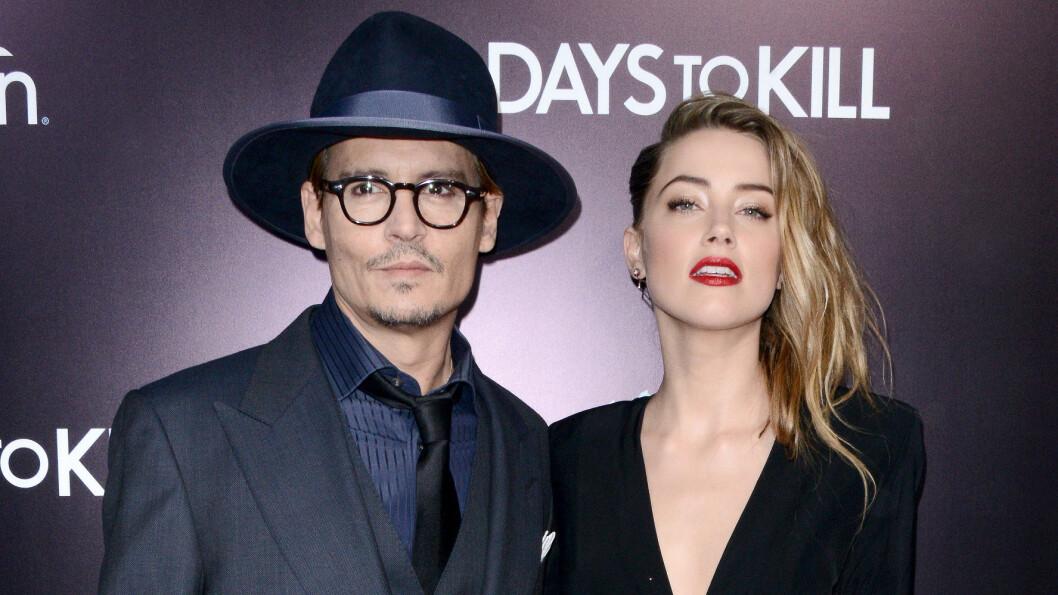OVERRASKENDE VENDING: Bruddet mellom stjerneparet Johnny Depp og Amber Heard ble svært dramatisk da hun anklaget ham for vold kun dager etter bruddet.  Foto: Abaca