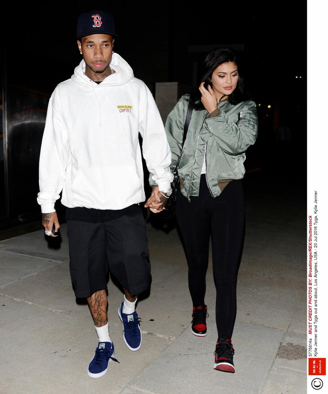 SAMMEN IGJEN: Etter Tyga og Kylie ble sammen igjen forrige måned, har det virket som forholdet er sterkere enn noen gang.  Foto: Rex Features