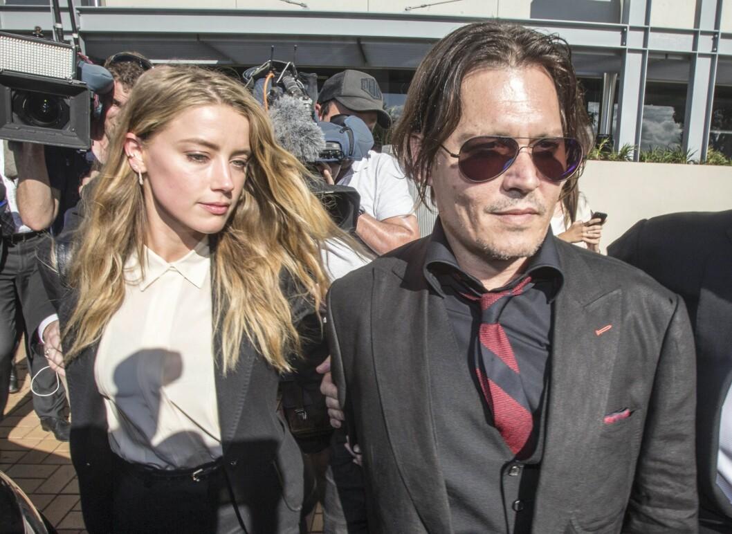 POPULÆRT EKTEPAR: Amber Heard og Johnny Depp var et av Hollywoods mest profilerte stjernepar.  Foto: Epa