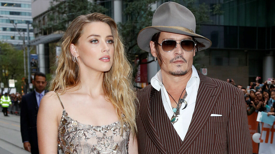 SJOKKBRUDD: Det er kun to måneder siden det ble kjent at Amber Heard og Johnny Depp hadde gått hver til sitt.  Foto: Zuma Press