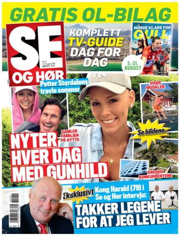 LES OGSÅ: I tirsdagens utgave av Se og Hør kan du blant annet lese om Petter Stordalens travle sommer. Foto: Faksimile Se og Hør