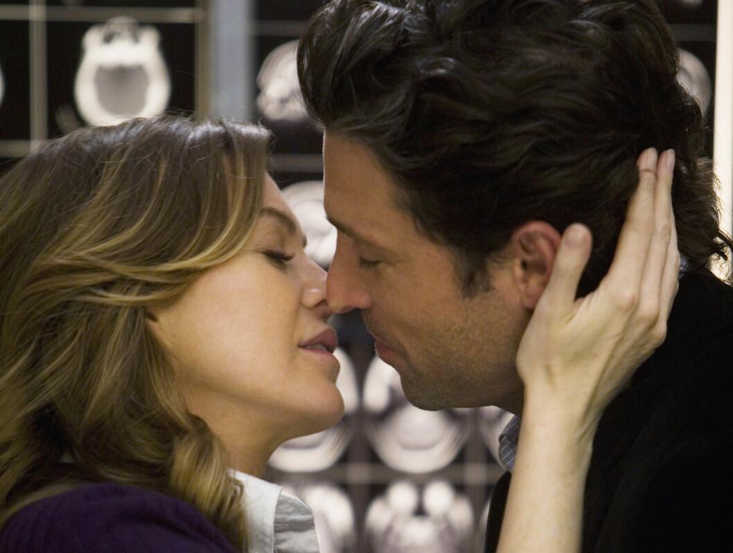 UKOMFORTABEL: Ellen Pompeo har avslørt at hun synes det er ekkelt å spille inn kysse-scener med Patrick Dempsey i «Grey's Anatomy». Foto: TV 2