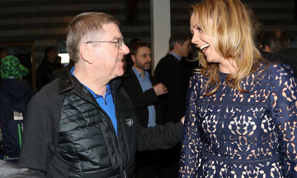 KALLET: IOC-president Thomas Bach vil ha kulturminister Linda Hofstad Helleland til å skaffe flere internasjonale kvinnelige idrettsledere. Da passer det dårlig å velge en lukket, selvioppnevnt gruppe med bare eldre menn som rådgivere. FOTO: Geir Olsen / NTB scanpix