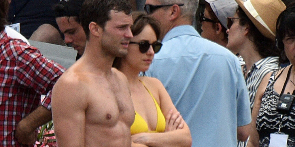 image: «50 Shades of Grey»-stjernene søkte dekning i Nice