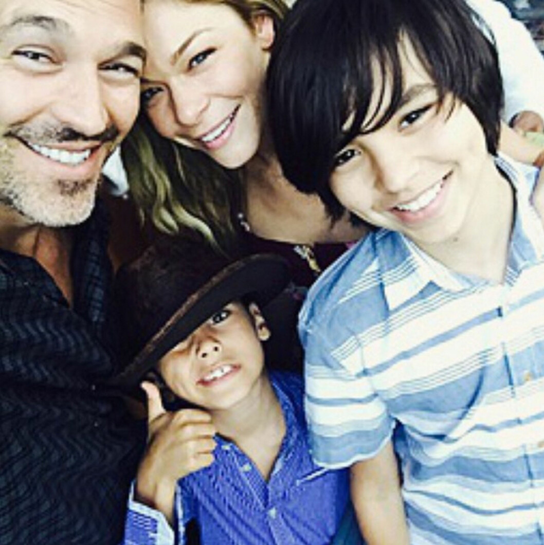 <strong>FAMILIEN:</strong> LeAnn er stemor til ektemannens sønner, Mason og Jake, som han har med eks-kona Brandi. Foto: Xposure