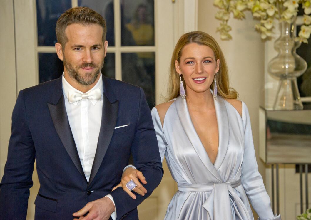 STJERNEPAR: Skuespiller Ryan Reynolds og Blake Lively giftet seg i 2012, og i fjor fikk de sitt første barn sammen.  Foto: DPA
