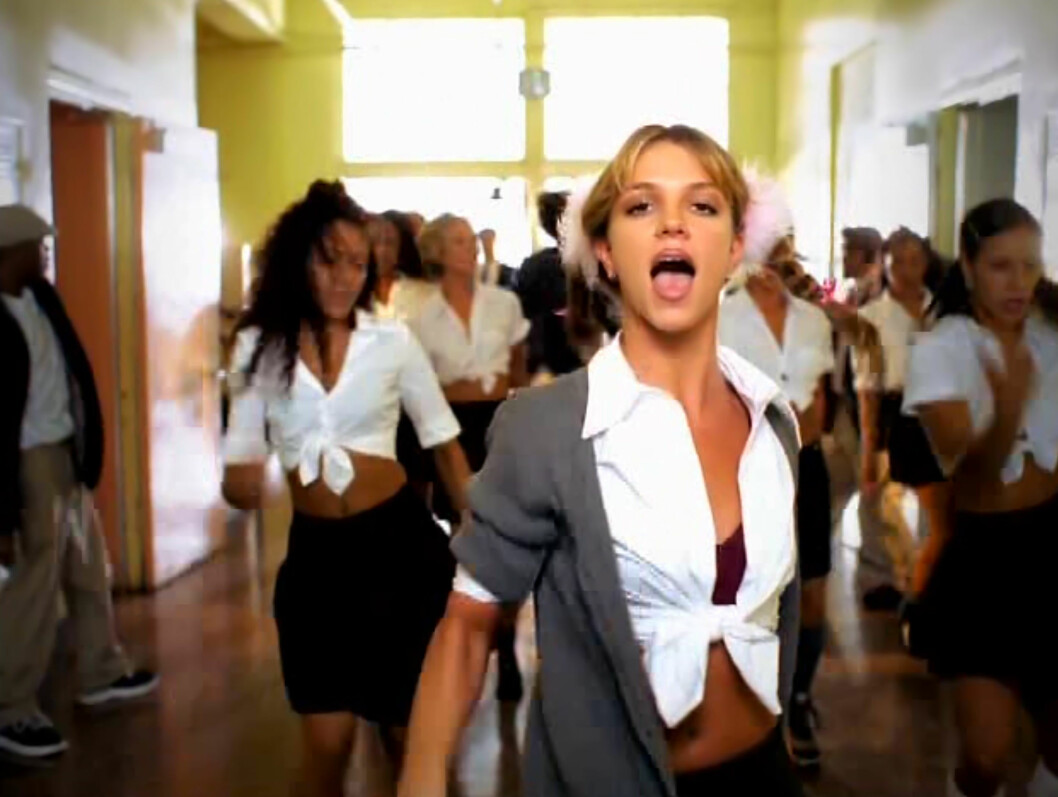 """BABY: Britney Spears i sin første hitsingle """"Baby One More Time"""" i 1998.  Foto: Supplied by LMK Media/All Over P"""